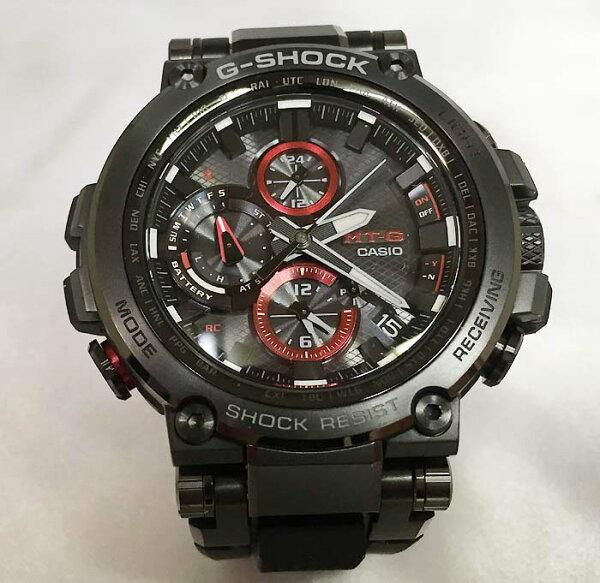 カシオCASIO腕時計G-SHOCKジーショックMT-GBluetooth搭載電波ソーラーMTG-B1000B-1AJFメンズ腕