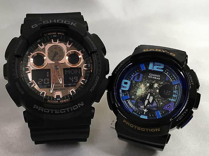 恋人たちのGショックペアウオッチ G-SHOCK ペア腕時計 カシオ GA-100MMC-1AJF BGA-190GL-1BJFプレゼント ギフト ラッピング無料 g-shock メッセージカード手書きします あす楽対応 クリスマスプレゼント
