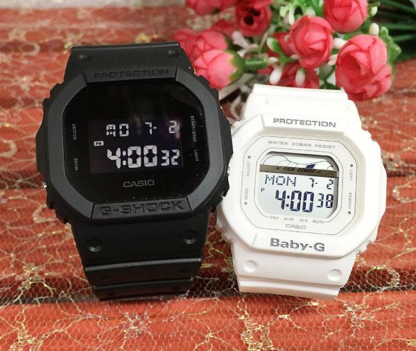 恋人たちのGショックペアウオッチG-SHOCKペア腕時計カシオDW-5600BB-1JFBLX-560-7JFプレゼントギフトラ