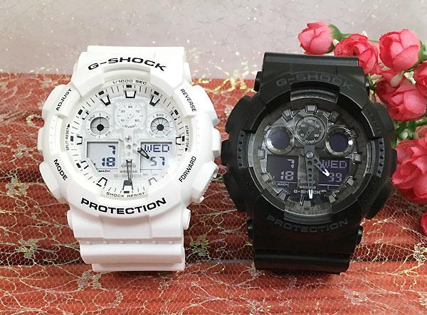 腕時計, ペアウォッチ G G-SHOCK 2 g GA-100MW-7AJF GA-100CF-1AJF g-shock