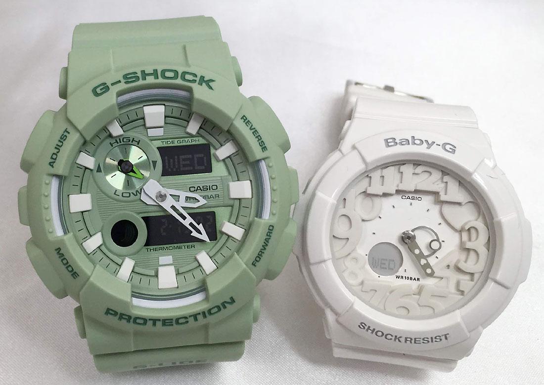 恋人たちのGショックペアウオッチ 恋人たちのGショック G-SHOCK BABY-G ア腕時計 カシオ 2本セット  gショック ベビーg アナデジGAX-100CSA-3AJF BGA-131-7BJF 人気 ラッピング無料 手書きのメッセージカードお付けします g-shock あす楽対応 ほんのり好きでいてください