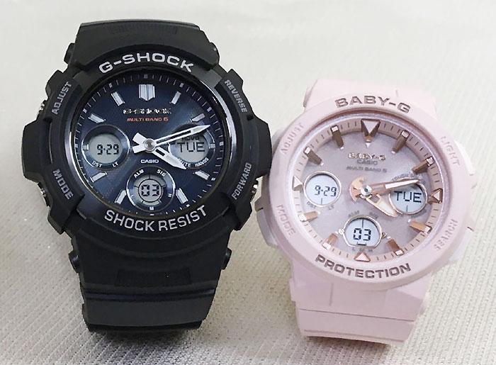 腕時計, ペアウォッチ G G-SHOCK BABY-G 2 g AWG-M100SB-2AJF BGA-2500-4AJF