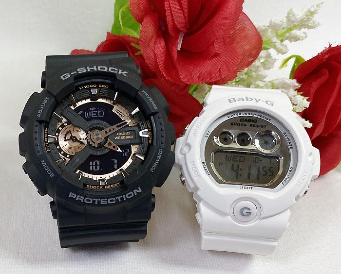 腕時計, ペアウォッチ G G-SHOCK BABY-G 2 g g GA-110RG-1AJF BG-6900-7JF