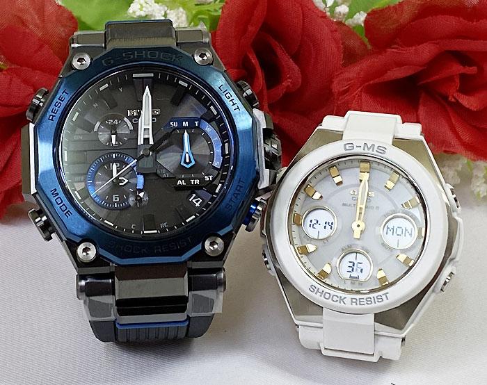 腕時計, ペアウォッチ G G-SHOCK BABY-G 2 g MTG-B2000B-1A2JF MSG-W100-7A2JF