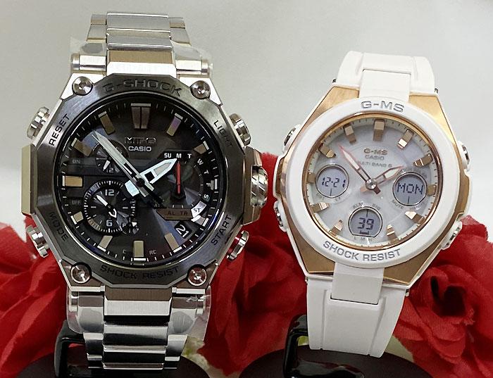 腕時計, ペアウォッチ G G-SHOCK BABY-G 2 g MTG-B2000D-1AJF MSG-W100G-7AJF