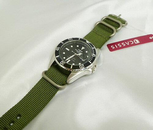 時計バンド 時計ベルト CASSIS カシスTYPE NATO RING(タイプナトーリング) 3本セット20ミリ