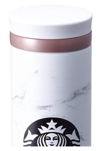 ★無料配送★海外限定スタバマーブルホワイトタンブラー保温保冷ボトルStarbucksJNOMarblewhitethermos500ml[並行輸入品](Marble)
