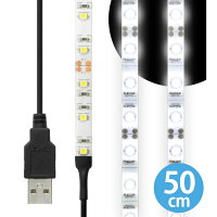 LEDテープライト貼レルヤUSB(昼光色)50cm017776-1-0