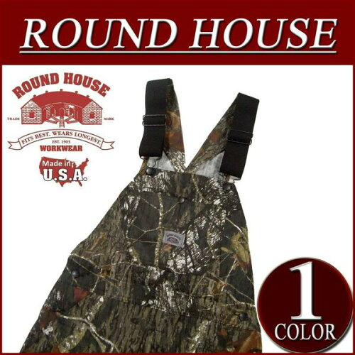 af121 新品 ROUND HOUSE USA製 MOSSY OAK BREAK-UP CAMO OVERALLS リアルツリー カモ...