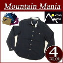 【4色4サイズ】 mm103 新品 MOUNTAIN MANIA RIBBON SHIRT リボンテープ付 長袖 無地 コットンツイル シャツ 41700047 メンズ マウンテンマニア アメカジ アウトドア MountainMania