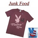 【日本規格 4サイズ】 aa421 新品 JUNK FOOD 日本別注 USA産 PLAYBOY プレイボーイ 半袖 Tシャツ メンズ ジャンクフード ティーシャツ JunkFood MADE IN USA