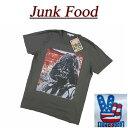【US規格 5サイズ】 az951 新品 JUNK FOOD USA産 DARTH VADER ダースベイダー 半袖 Tシャツ メンズ ジャンクフード ダースベーダー STAR WARS スターウォーズ ティーシャツ JunkFood MADE IN USA