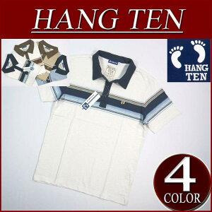 【2014春夏モデル! 4色3サイズ】 ia781 新品 HANG TEN ワンポイント刺繍 半袖 パネルボーダー...