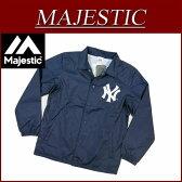 【1/10再入荷! 2016秋冬 4サイズ】 ic181 新品 MAJESTIC ニューヨーク ヤンキース コーチジャケット メンズ マジェスティック New York Yankees MLB OFFICIAL WEAR NY ウインドブレーカー ナイロンジャケット 【smtb-kd】