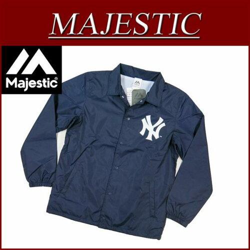 ic181 新品 MAJESTIC ニューヨーク ヤンキース コーチジャケッ...