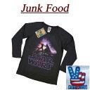 【日本規格 4サイズ】 ab041 新品 JUNK FOOD 日本別注 USA産 LUKE VS VADER ルーク VS ダースベイダー 七分袖 Tシャツ SW344-7916 メンズ ジャンクフード スターウォーズ STAR WARS ティーシャツ JunkFood MADE IN USA