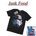 【US規格 5サイズ】 ab061 新品 JUNK FOOD USA産 ストーム・トルーパー デス・スター 半袖 Tシャツ メンズ S2349-7730 ジャンクフード STORM TROOPER DEATH STAR STAR WARS スターウォーズ JunkFood MADE IN USA
