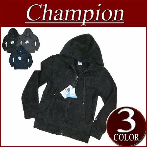 ch551 新品 Champion ワンポイント刺繍 シェルパフリース ジップパーカー C3-E616 ...