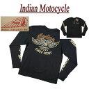 【4サイズ】 ja741 新品 INDIAN MOTOCYCLE ネイティブ イーグル刺繍 ヘンリーネック ロンT IMLT-610 メンズ ティーシャツ 長袖 Tシャツ ロンティー インディアンモトサイクル IndianMotocycle