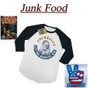 【US規格 5サイズ】 ab571 新品 JUNK FOOD USA産 スターウォーズ チューバッカ ラグラン 七分袖 Tシャツ S2938-7822 メンズ ジャンクフード STAR WARS ティーシャツ JunkFood MADE IN USA 【smtb-kd】