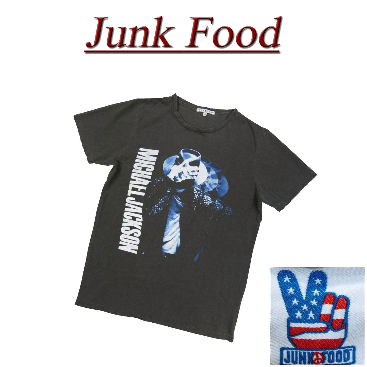 トップス, Tシャツ・カットソー US 4 ab881 JUNK FOOD USA MICHAEL JACKSON T MJ026-8010 JunkFood Made in USA smtb-kd