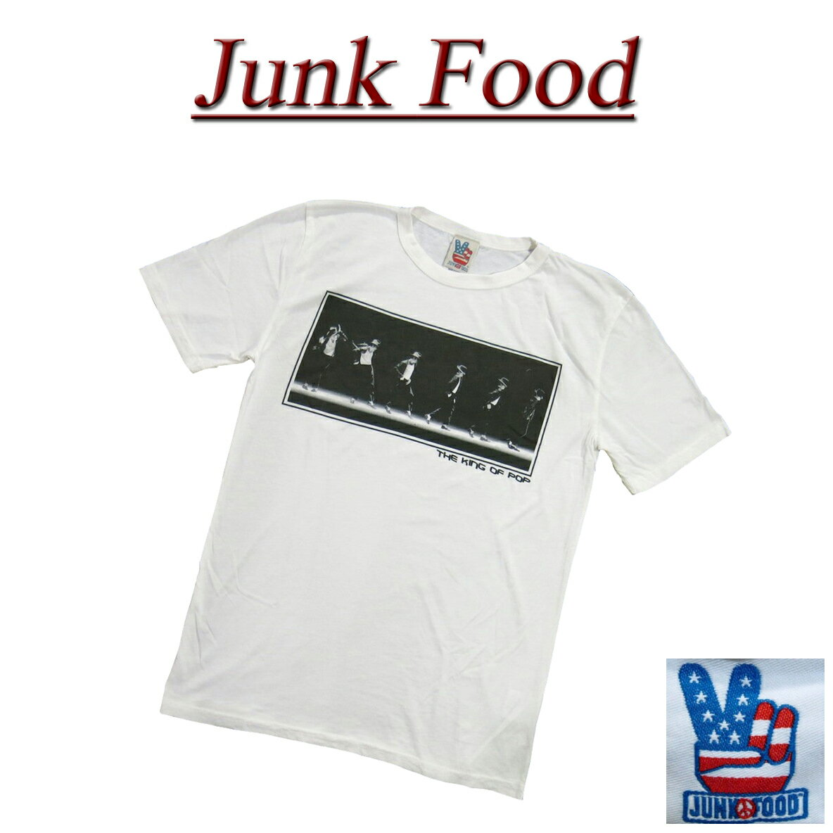 トップス, Tシャツ・カットソー  5 ac071 JUNK FOOD USA MICHAEL JACKSON T MJ023-7765 JunkFood MADE IN USA smtb-kd