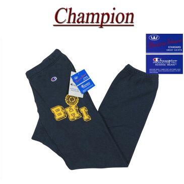 【4サイズ】 jb132 新品 Champion リバースウィーブ 青単タグ 裏起毛 ラバープリント スウェットパンツ C3-J201 メンズ REVERSE WEAVE チャンピオン カレッジプリント アメカジ 青単色タグ