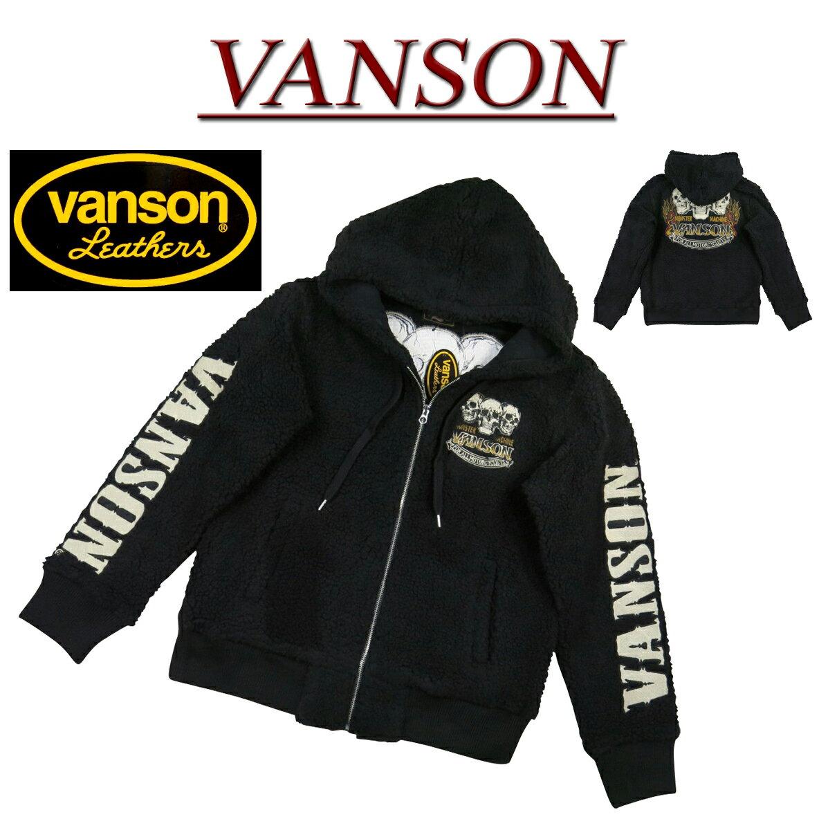 トップス, パーカー 5nb291 VANSON NVSZ-910 BOA FLEECE ZIP HOODIE smtb-kd