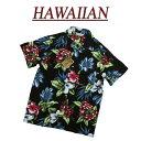 【7サイズ】 wu4817 新品 ハイビスカス 花柄 半袖 レーヨン100% アロハシャツ メンズ ……