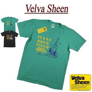 【2色4サイズ】 jd841 新品 Velva Sheen USA製 TEXAS OPEN FIELD TEE 半袖 スラブ Tシャツ 162086 メンズ ベルバシーン ティーシャツ イエローレーベル Made in USA 【smtb-kd】