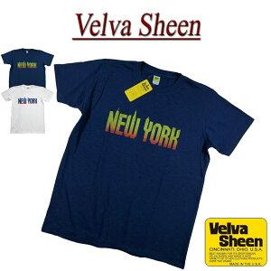 【5/31再入荷! 2021春夏 2色4サイズ】 je302 新品 Velva Sheen USA製 NEW YORK TEE 半袖 スラブ Tシャツ 162119 メンズ ベルバシーン ティーシャツ イエローレーベル Made in USA 【smtb-kd】