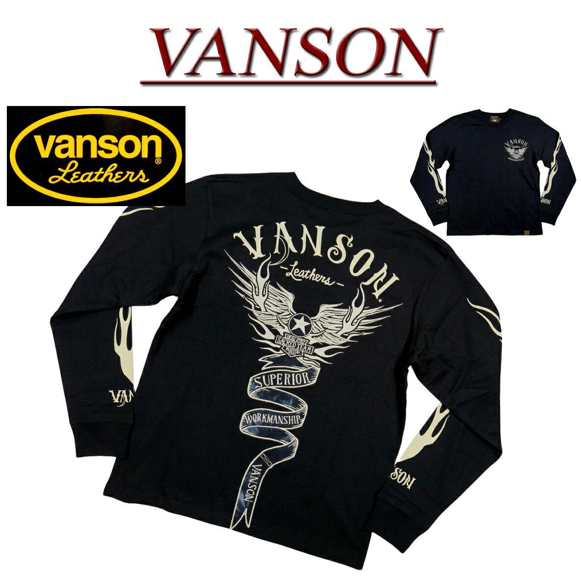 トップス, Tシャツ・カットソー 2020 4 nb681 VANSON T NVLT-2026 FLYING STAR EMBLEM LONG SLEEVES T-SHIRT T smtb-kd