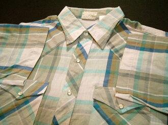 kss019 L Lee ri短袖檢查西部襯衫舊衣服10P03Sep16