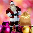 【短納期 送料無料】サンタ コスプレ【メンズ サンタクロース 衣装 豪華9点セット】クリスマス コスチューム 男性用 サンタの服 服 仮装グッズ コスプレ 大人用 クリスマスプレゼント