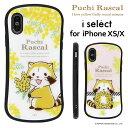 iPhone x iphone xs ケース プチラスカル ミモザ i select ガラスケース | スマホケース 耐衝……