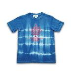 """JUICE(ジュース) """"JUICE × ASCENSION コラボ【Lunar phase -Line-】藍染・インディゴ染め・メンズ(mens)・レディース(ladys)・Tシャツ(T-shirt)・タイダイ・TIE-DYE(tie dye)・アウトドア juice-034"""