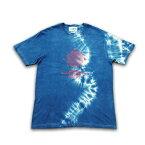 """JUICE(ジュース) """"JUICE × ASCENSION コラボ【Lunar phase -Front-】藍染・インディゴ染め・メンズ(mens)・レディース(ladys)・Tシャツ(T-shirt)・タイダイ juice-051"""