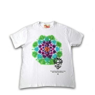 ASCENSION(アセンション) Tシャツ【 Lotus -Mandara-】メンズ(mens)・レディース(ladys)・Tシャツ(T-shirt)・ライジングサン・アウトドア(outdoor)・野外フェス・タイダイ・TIE-DYE・インディゴ・エスニック・曼荼羅 as-513
