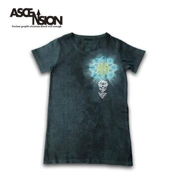 ASCENSION(アセンション)GOHEMP レディース Tシャツワンピース 曼荼羅 TIE DYE ・Tシャツ(T-shirt)・アウトドア(outdoor)・野外フェス・タイダイ・エスニックas-754