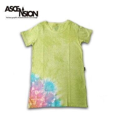 ASCENSION(アセンション)GOHEMP レディース Tシャツワンピース 曼荼羅 TIE DYE ・Tシャツ(T-shirt)・アウトドア(outdoor)・野外フェス・タイダイ・エスニックas-756