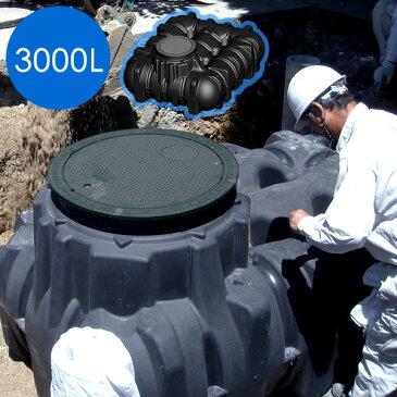 【地下埋設型 雨水タンク】アンダータンク 3000L <パーキングセット> 倒れず、きれいな水が確保できるのは地下埋設型! ポンプでくみ上げて井戸、スプリンクラー、トイレ雑用水にも。震災・災害・非常時にも。 【雨水貯留施設】【送料無料】