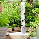 アイアン風の葉っぱ飾りが可愛いデザイン。ホース接続蛇口付き【水栓柱】【立水栓】上品な大人...