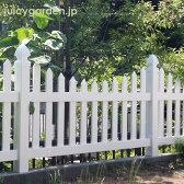 フェンス 白【樹脂】ナチュラル!カントリーガーデンに!ホワイトフェンス「カントリー3型」【ガーデンフェンス】【送料無料】|テラス おしゃれ 柵 目隠し ホワイト ガーデニング ガーデン 庭 ベランダ デッキ アメリカンフェンス 目隠しフェンス アメリカン ヨーロピアン
