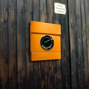 郵便ポスト 新聞受け付き。船窓のような丸窓が特徴のPOST。【郵便ポスト】レターマン2 カラー...