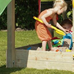 DIY 屋外 木製 家庭用遊具作成用パーツ 「はらっぱギャング はらっぱBASEオプション 砂場囲い2段用追加板 4枚セット(エコアコールウッド)」 【送料無料対象外】 自作