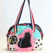 黒猫さんのエメグリーンのコットンbag