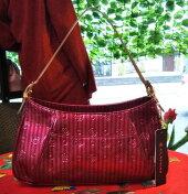 CLATHAS「クレイサス、2wayショルダーバッグ」/希少/縦縞のエナメル可愛いバッグ
