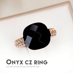 リング記念日自分へのご褒美結婚式パーティーカジュアル大人可愛い女性ジュエリーアクセサリージュジュルナjujuluna指輪レディースギフトカワイイおしゃれ知的オニキス黒めのう