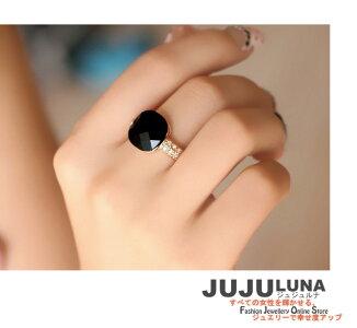 リング指輪レディースギフトカワイイ記念日自分へのご褒美結婚式パーティーカジュアル大人可愛い女性ジュエリーアクセサリージュジュルナjujulunaおしゃれ知的オニキス黒めのう