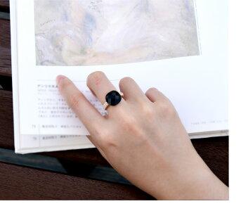 リング指輪レディースギフトカワイイおしゃれ記念日自分へのご褒美結婚式パーティーカジュアル大人可愛い女性ジュエリーアクセサリージュジュルナjujuluna知的オニキス黒めのう